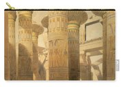 Hall Of Columns, Karnak, From Egypt Carry-all Pouch by David Roberts