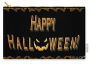 Halloween Bat Border Carry-all Pouch