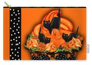 Halloween Black Cat Cupcake 3 Carry-all Pouch