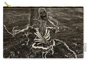 Halloween Green Skeleton Black And White Carry-all Pouch