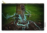 Halloween Green Skeleton Vinette Carry-all Pouch