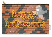 Halloween Greeting Card - Brick Wall In Philadelphia Carry-all Pouch
