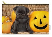 Halloween Pug Carry-all Pouch by Greg Cuddiford