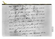 Hamilton: Letter, 1777 Carry-all Pouch