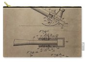 Hammer Patent Drawing Carry-all Pouch