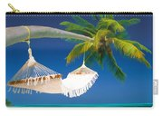 Hammock Palm And Ocean Carry-all Pouch