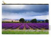 Hampshire Lavender Field Carry-all Pouch by Terri Waters