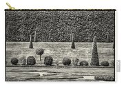Hampton Court The Privy Garden Bw Carry-all Pouch