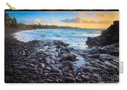 Hana Bay Sunrise Carry-all Pouch by Inge Johnsson