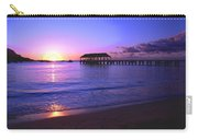 Hanalei Bay Pier Sunset Carry-all Pouch by Brian Harig