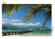 Hanalei Pier And Beach Carry-all Pouch