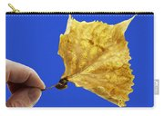 Hand Holding Dry Cottonwood Leaf Carry-all Pouch