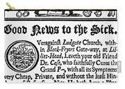 Handbill, 18th Century Carry-all Pouch