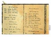 Handbill: Casualties, 1775 Carry-all Pouch