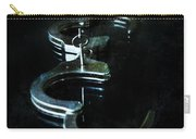 Handcuffs On Black Carry-all Pouch by Jill Battaglia