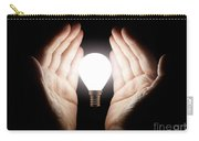 Hands Holding Light Bulb Carry-all Pouch