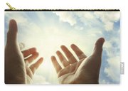 Hands In Sky Carry-all Pouch by Les Cunliffe