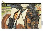 Hang On Tight To Your Painted Horse Carry-all Pouch