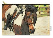 Hang On To Your Painted Horse Carry-all Pouch