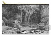 Hanging Bridge In Black And White Carry-all Pouch