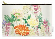 Hanging Flowers Carry-all Pouch