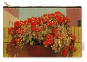 Hanging Pot With Geranium Carry-all Pouch