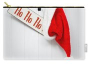 Hanging Santa Hat And Sign Carry-all Pouch by Amanda Elwell