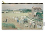 Hanging The Laundry Out To Dry Carry-all Pouch by Berthe Morisot