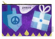 Hanukkah Peace Carry-all Pouch by Linda Woods