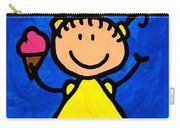 Happi Arte 3 - Little Girl Ice Cream Cone Art Carry-all Pouch