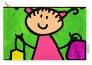 Happi Arti 5 - Shopaholic Little Girl Art Carry-all Pouch