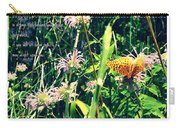 Happiness Is A Butterfly Carry-all Pouch by Poetry and Art