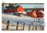 Happy Acres Farm Square Carry-all Pouch by Bill Wakeley