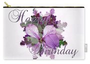 Happy Birthday Greeting Card - Purple Luneria Carry-all Pouch