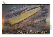 Happy Birthday Greeting Card - Vintage Atom Saltwater Fishing Lure Carry-all Pouch