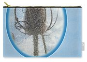 Happy Birthday Greetings - Dried Teasel Thistle Flower Head Carry-all Pouch