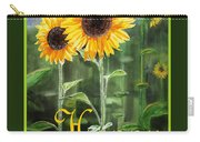 Happy Birthday Happy Sunflowers Couple Carry-all Pouch
