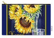 Happy Birthday Happy Sunflowers  Carry-all Pouch