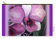Happy Birthday Orchid Design Carry-all Pouch