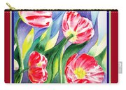 Happy Birthday Pink Poppies Carry-all Pouch