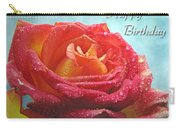 Happy Birthday Rose Carry-all Pouch