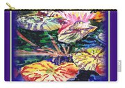 Happy Birthday Water Lilies  Carry-all Pouch