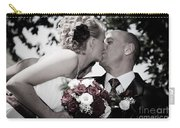 Happy Bride And Groom Kissing Carry-all Pouch