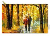 Happy Couple - Palette Knife Oil Painting On Canvas By Leonid Afremov Carry-all Pouch