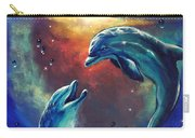 Happy Dolphins Carry-all Pouch by Marco Antonio Aguilar