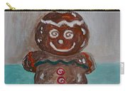Happy Gingerbread Man Carry-all Pouch