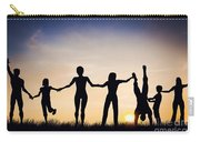 Happy Group Of People Friends Family Together Carry-all Pouch