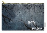 Happy Halloween - Ghost In Trees Carry-all Pouch