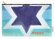 Happy Hanukkah Card Carry-all Pouch by Linda Woods