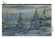 Happy Holidays - Snowy Winter Evening Carry-all Pouch